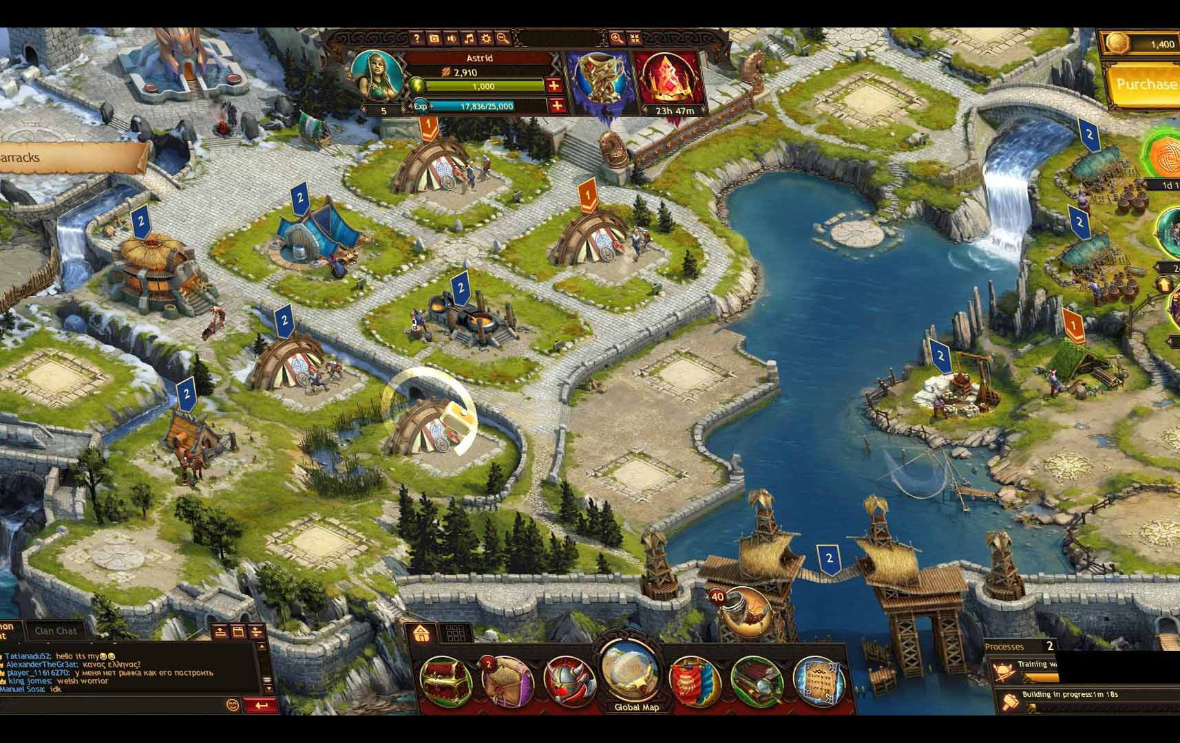 Vikings War of Clans как убрать